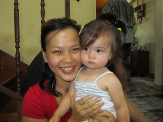 Mei Chin and gorgeous little Immie