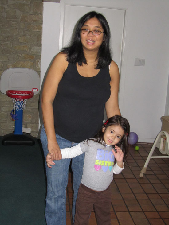 Mama and Yaya right before we head to the hospital