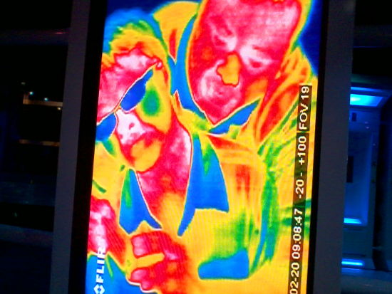 Irfan and I show up on FLIR! We're not zombies! Huzzah!