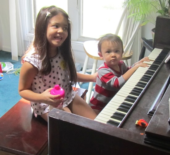 Jamming on the piano