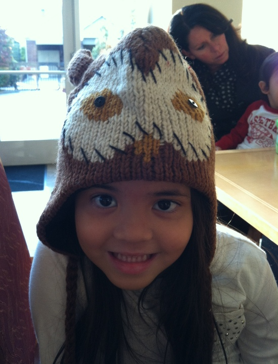 Owl hat to help her not miss her owl plate