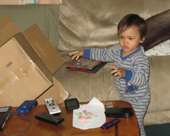 Adik has had enough of the box and throws it aside