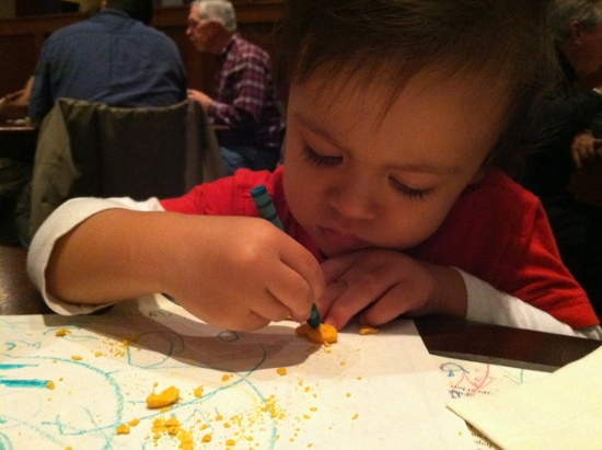 Coloring a goldfish cracker?