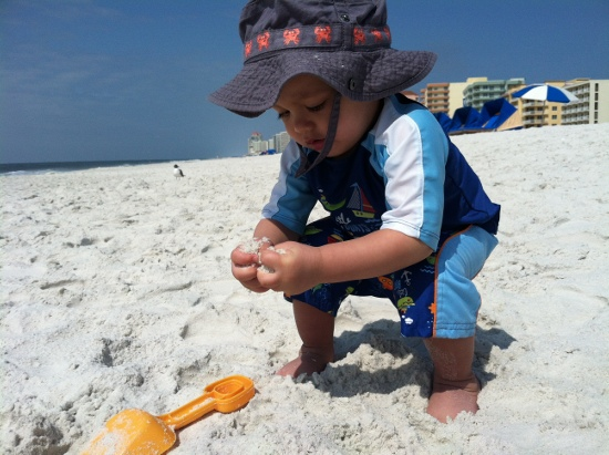 Adik continues to geram the sand