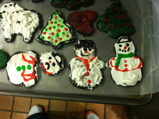 Cookies! My favorite is the decapitated snowman