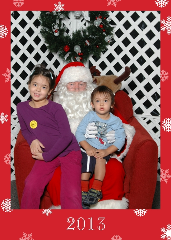 Yaya was happy but luckily Adik did not cry (he thinks Santa is an evil overlord)