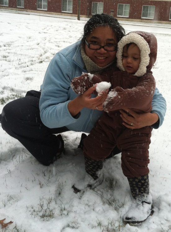 Adik really wants the snowball