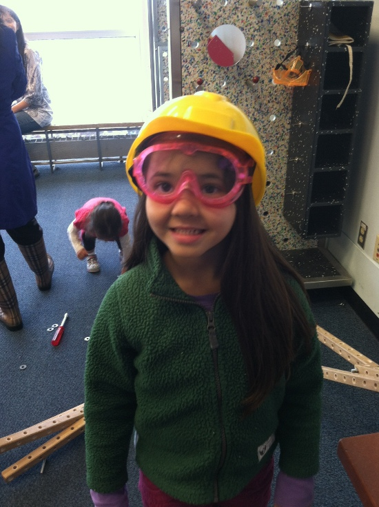 Safety goggles and hard hat!