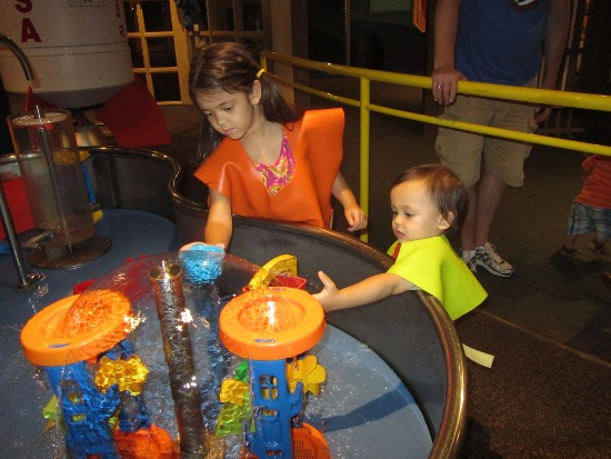 They both love the water table