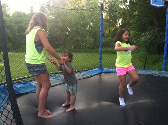 Some trampoline fun