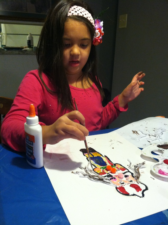 Creating her Nutcracker masterpiece based on the nutcracker that Becky gave to her