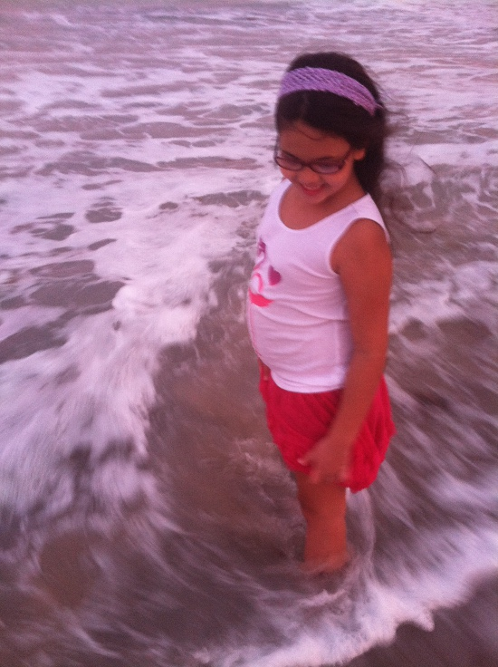 I just love this artsy shot of Yaya at the beach, and the joy on her face