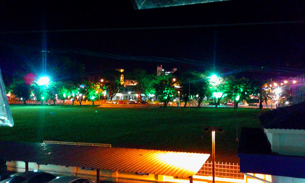 Taman Merdeka at night