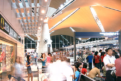 The crowd in KLIA
