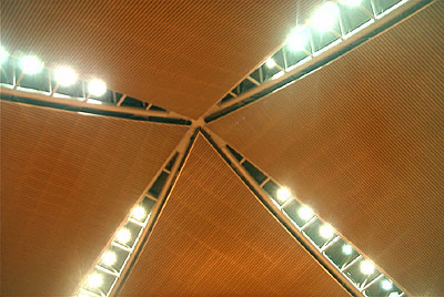 The elaborate KLIA ceiling