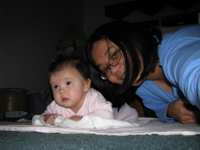 Tummy time with Mak