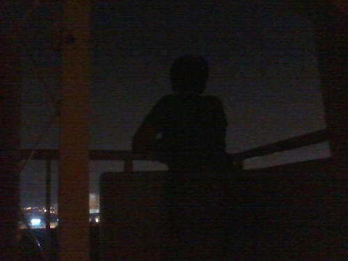 Silhouette of the boy