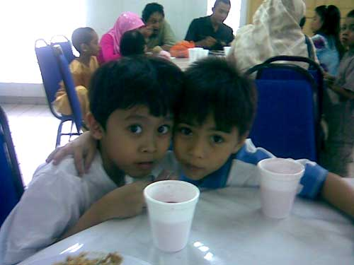 Irfan and Dzarif, classmates and neighbours