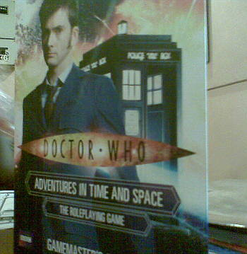 The outdated Tenth Doctor up in front