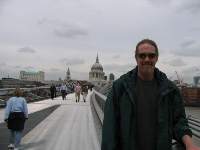 Vin on the Millenium Bridge