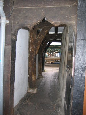 Doorway through to the outdoor marketplace