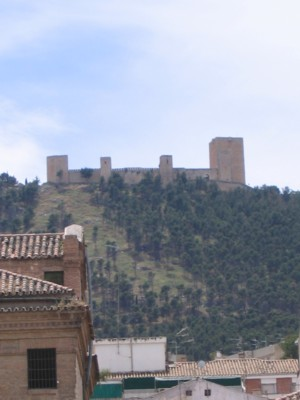 Castillo from downtown Jaen
