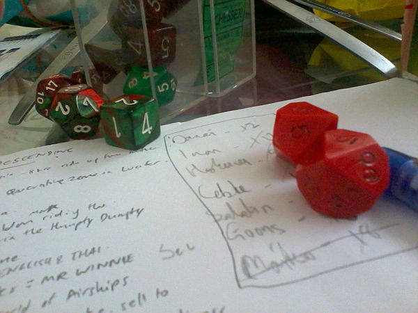 Nothing to see here but notes and dice