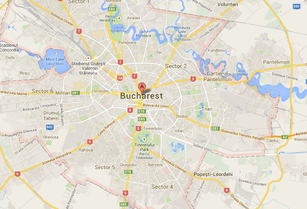 Bucharest Google Map