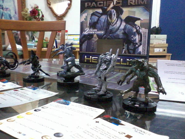 L-R Slattern, Knifehead, two Gipsy Dangers, Coyote Tango and Scunner