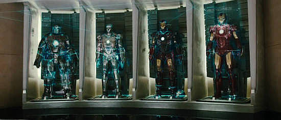 Four versions of the suit - no Hulkbuster suit though