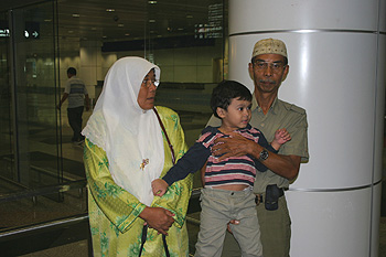 Irfan awaits with grandparents