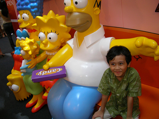 Apparently Irfan smells of candy to Homer