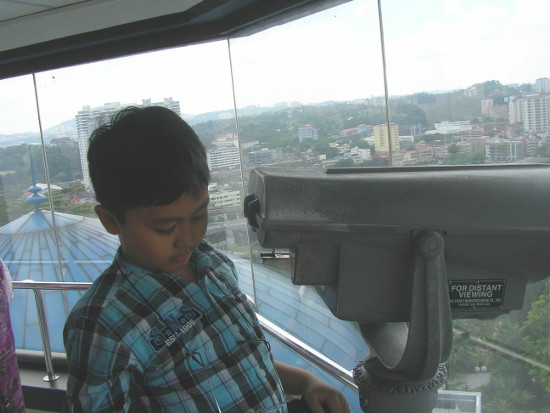 On the observation tower
