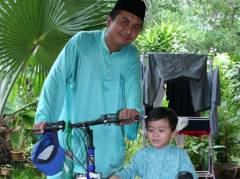 Irfan with Abah