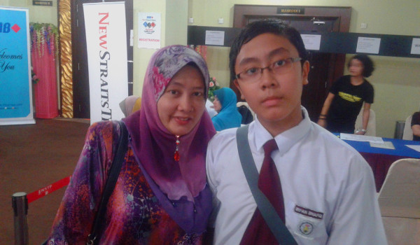 Irfan with Mom