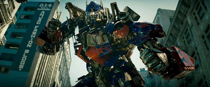 "Optimus starts dancing to ""Born To Be Stupid"""