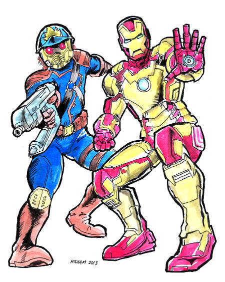 Star Lord and Iron Man