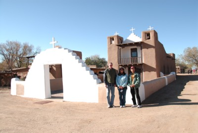 Vin, Abah and me by Saint Jerome Church in the pueblo