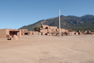 Taos Pueblo, with the mountain in the background