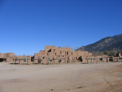 Taos Pueblo's South House (or North House, sorry forgot lah)