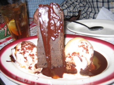Another yummy chocolate cake and ice cream