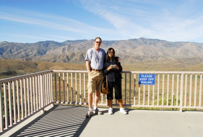 Vin and I at the scenic overlook