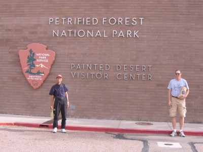 Abah and Vin at the Painted Desert visitor center