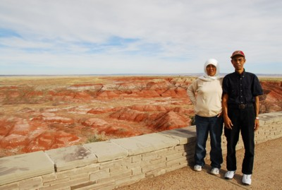 Mak and Abah at the Painted Desert