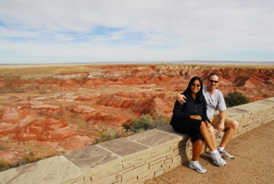 Vin and I at the Painted Desert
