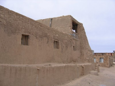 The side of San Esteban del Rey mission