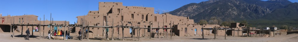 Another panoramic view of Taos Pueblo