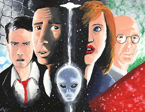 Mulder, Scully and buddies