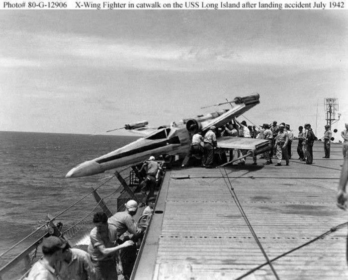 x-wing crash aircraft carrier