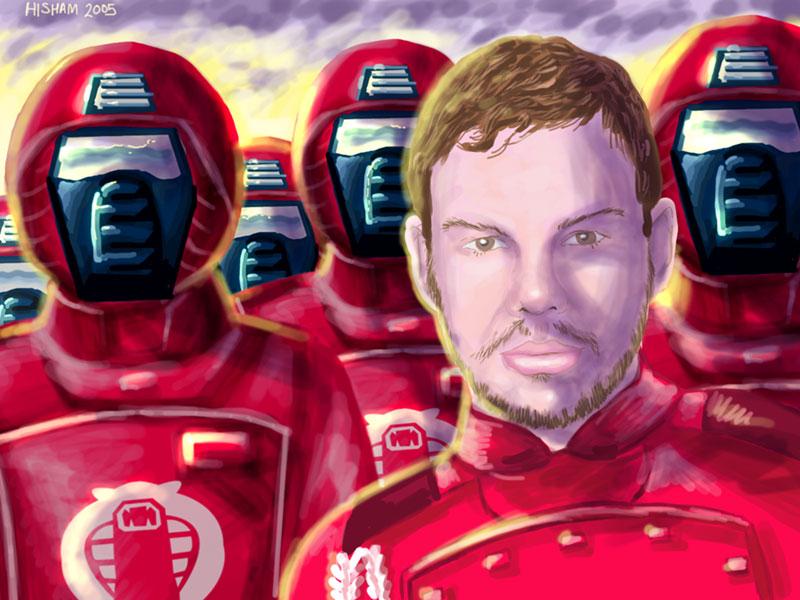 Shane as a Crimson Guard